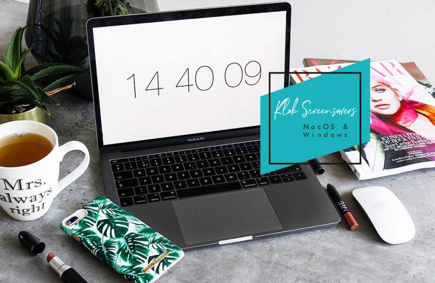 Klok screensaver voor Mac OS & Windows - asseenbyalex.com